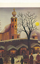 ART POSTCARD Private Collection 1990s The Christmas Market 1929 By Regine Dapra