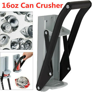 2 in 1 16OZ Cans Crusher Soda Beer Cans Smasher Eco-Friendly Recycling Tool
