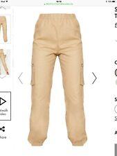 Women's Ladies Stone Pocket Detail Cargo Trousers - Size 8