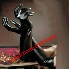 Guanti Donna lunghi Effetto wetlook Pvc Lingerie Sexy Gloves Fetish latex slave
