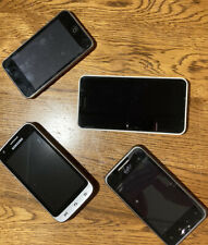 LOT OF 3 OLD USED/WORKING CELL PHONES & 8gb IPOD TOUCH