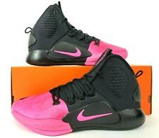 Nike Hyperdunk X Kay Yow Black Pink Basketball Shoes AT3663 001 Mens Size 11