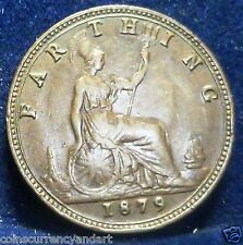 HIGH GRADE -1879  Farthing - UK (Great Britain) -  Coin -One Of The Best
