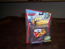 DISNEY- PIXAR- CARS 2 - MIGUEL CAMINO- METALLIC FINISH- CARD NICE CONDITION -NEW