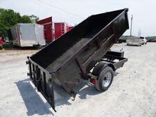 Hydraulic Dump Trailer 5x10 - 2 Ft. Sides Spreader Gate