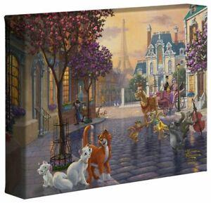 Thomas Kinkade Studios Aristocats 8 x 10 Canvas Wrap