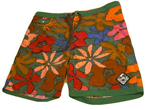 Vans Off The Wall Board Shorts Swimming Trunks Suit Flowers All Over Size 36
