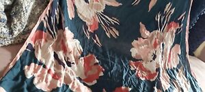 Joules Large Square Scarf Navy Rose Pink