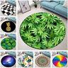 Space Cactus Mandala Tropical Leaf Round Mat Bedroom Carpet Living Room Area Rug