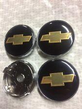4x Wheel Centre Cap Set New Style 3D Logo Center Caps Black/Gold 60mm