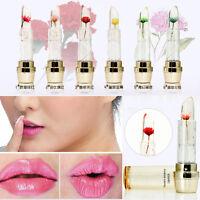 Jalea labial Barras de Labios flor pintalabios ápiz Brillo Duradero Maquillaje