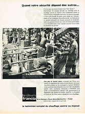 PUBLICITE ADVERTISING 084  1961  BRULEURS FRANCIA   chauffage central mazout