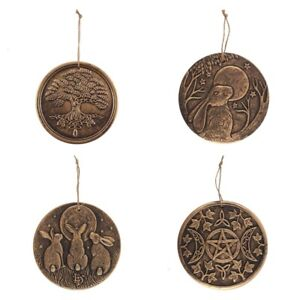 LISA PARKER TERRACOTTA GARDEN WALL PLAQUES INCLUDING TREE OF LIFE & TRIPLE MOON