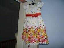 Girls New Designer Sunboree Multi Butterfly Dress Size 4/5