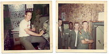Two Vietnam Era Color Photos of Troops in Communications Shack with Name 1969