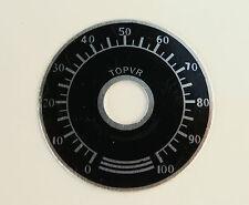 PIASTRA Quadrante Scala per Amplificatore Volume Tono Pomello