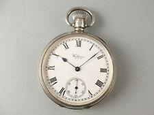 Waltham Silver POCKET WATCH. Hallmarked Birmingham 1928. Good Working Order