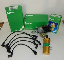 new 45d points distributor w/ sport coil & plug wires all genuine lucas for  mgb