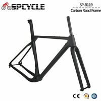 700C Aero Carbon Gravel Bike Frame Disc Brake Cyclocross Bicycle Frameset BB386