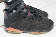 Air Jordan 6 retro shoes black infrared (2014) women's size 6. Youth size 4Y.