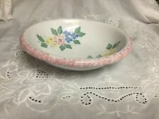 """Pier 1 One Imports 9.5"""" Hand Painted Earthenware Serving Bowl"""