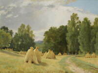 Ivan Shishkin Haystack Giclee Art Paper Print Paintings Poster Reproduction
