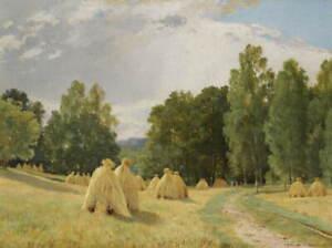 Ivan Shishkin Haystack Giclee Art Paper Print Paintings Poster Reproduction