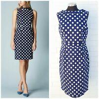 Boden Martha Summer dress size 14 Cotton Polka Dot Midi dress summer dress