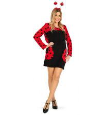 Marienkäfer Kostüm-Set Kleid Haarreif in rot schwarz 12009913