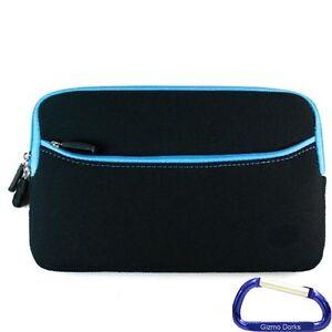 Neoprene Zipper Sleeve Case Cover Bag for Samsung Galaxy Tab 3 7.0 - Black Blue