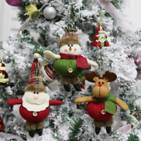 Merry Christmas Santa Claus Snowman Ornament Festival Party Xmas Tree Decor Doll