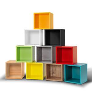 Cube Regalwürfel Regal Raumteiler viele Farben werkzeuglose Montage Clic System