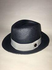 8124636e4fd Goorin Bros. Men s Snare Navy Blue Gray Weave Fedora Sz Small NWT  GB1