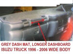GREY DASH MAT, DASHMAT FIT ISUZU,NPR 300 1996, NQR 450 2003 + NPR 400 2006 GREY