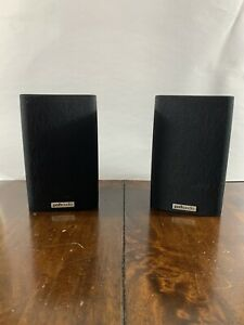 Lot of 2 Polk Audio RM7 Speakers Sat Black