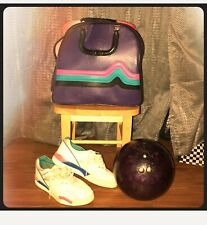 Vintage Purple Brunswick Bowlingball Set Bag, Ball, And Shoes Included!!
