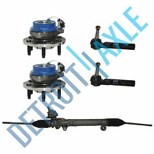 Steering Rack and Pinion + 2 Wheel Hub Bearing w/ ABS + 2 Outer Tie Rod End FWD