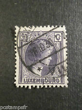LUXEMBOURG, 1930-31, timbre CLASSIQUE 220, G D CHARLOTTE oblitéré, VF used stamp
