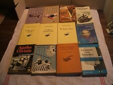 LOT 10 livres POLICIER - Agatha Christie - Jacques Bourderon - années 60 à 2000