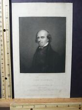 Rare Antique Original VTG Portrait of John Flaxman Engraving Art Print
