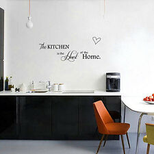 Wall Sticker PVC Quote Kitchen+Home Mural Art DIY Decal Decor Black Removable