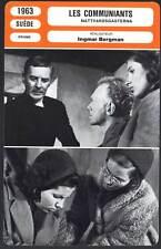 LES COMMUNIANTS - Ingmar Bergman (Fiche Cinéma) 1963 - Winter Light