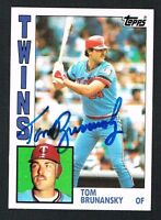 Tom Brunansky #447 signed autograph auto 1984 Topps Baseball Trading Card