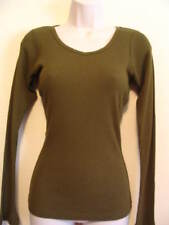 Satori Womens Eco Bamboo Long Sleve Shirt Top Med M
