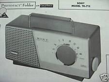 SONY TR-712 TRANSISTOR RADIO PHOTOFACT
