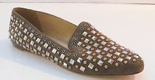 J Crew Collection Darby Studded Loafers 9 Dusty Charcoal