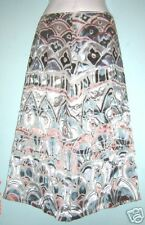 Womens Skirt  UK 8  Silver/blue/pink Art-deco print Silk-blend - BNWT by Mint