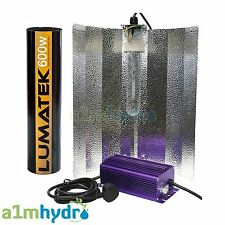 Lumatek 600W Digital Dimmable Ballast Euro Grow Light Kit Hydroponics