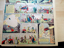 FLASH GORDON-ALEX RAYMOND RARE ORIGINAL 28TH FULL 7-15-1934 AURA/HAWKMEN CITY