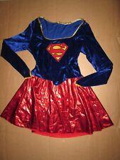 Womens SEXY SUPER WOMAN Halloween Costume L Lg